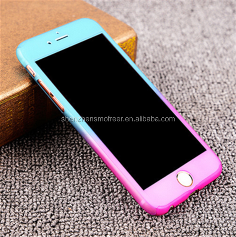 Fashion 360 Degree Full cover Gradient color Soft TPU Phone Cases for iphone 6