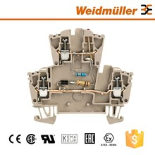 Two Way Feed Through Terminal Block Screw Component Cable Connector Weidmuller WDK 2.5 LD/RT 1D 2R 230