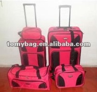 hot pink nested folding luggage bag closeout in 1 set
