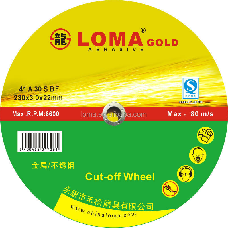 abrasive cutting wheel and grinding disk for metal