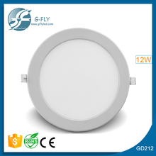 china manufacturer ac85-265/dc12v led ceiling panel light recessed 6w 12w 18w round ,square led ceiling pane