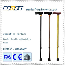 PVC Handle Material and Aluminum Shaft Material T Handle Walking Stick with Anti Shock Pole in Aluminum 6061 7075 walking cane