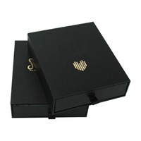 Wholesale Gold Stamping Black Gift Box