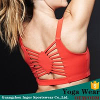 cheap custom slim red color wear yoga fitness wear for women