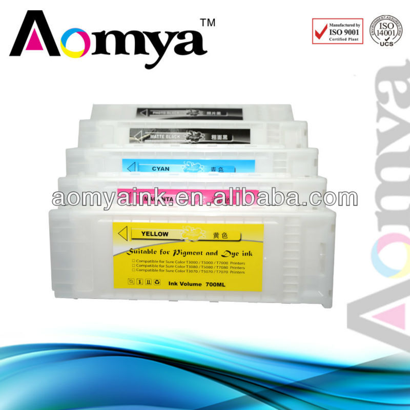 Aomya 350ML Refillable Ink cartridge for Eepson SureColor T5050