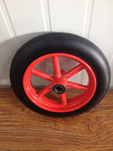 10 inch solid rubber wheel with spoke