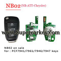 NB02 3 button remote key with NB-ATT-Chrysler model for KD900 machine