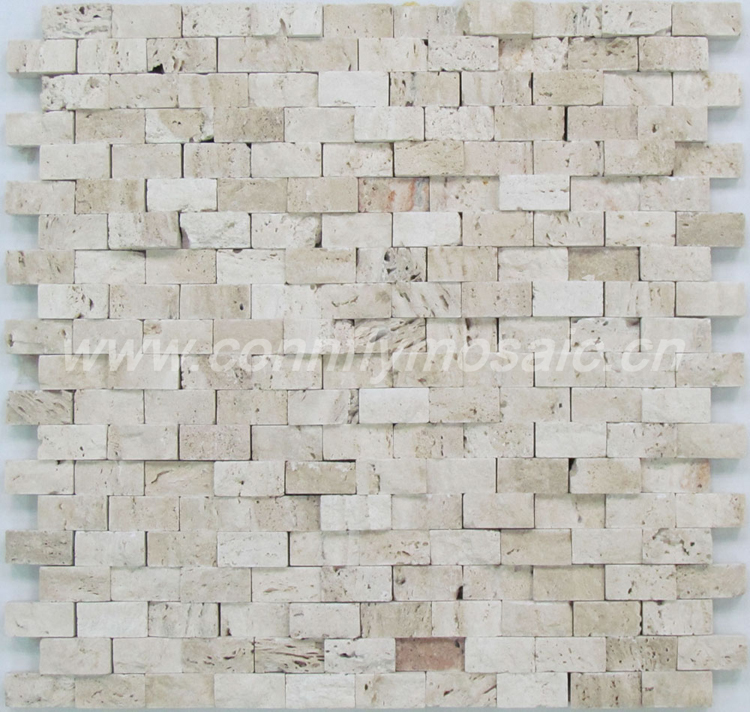 3D Natural Travertine Strips Stone Mosaic