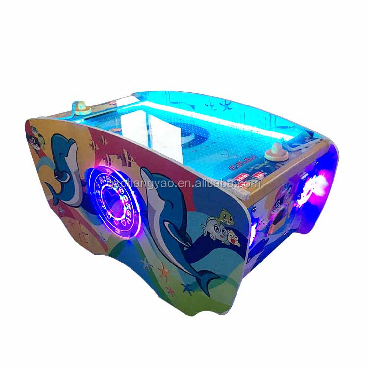 Interesting Play Land Sports Coin Operated Fun Air Hockey Table Arcade Amusement Game Machine