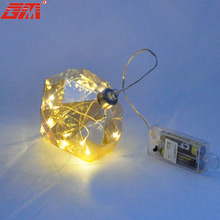 Cheap customized unusual christmas glass ornaments with led light