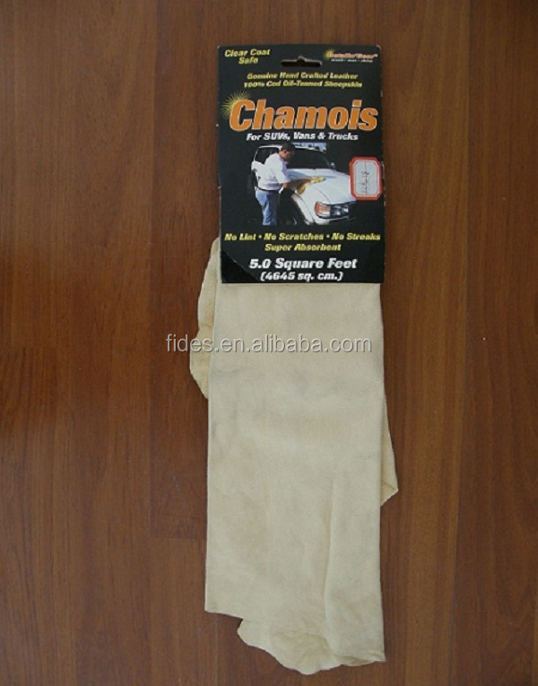 sheepskin natural genuine chamois leather for car polishing