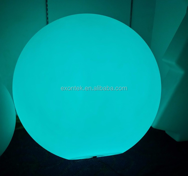 Wholesale new rgb 16 colors changing waterproof Pool floating led pastic ball 60CM top sale in Euro-market