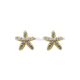 wholesale 3 gram gold beautiful designed star diamond starfish stud earrings