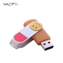 2017 Best Selling Bulk Custom Logo Full Capacity 64MB-128GB Computer Swivel USB Flash Drive VDF-008