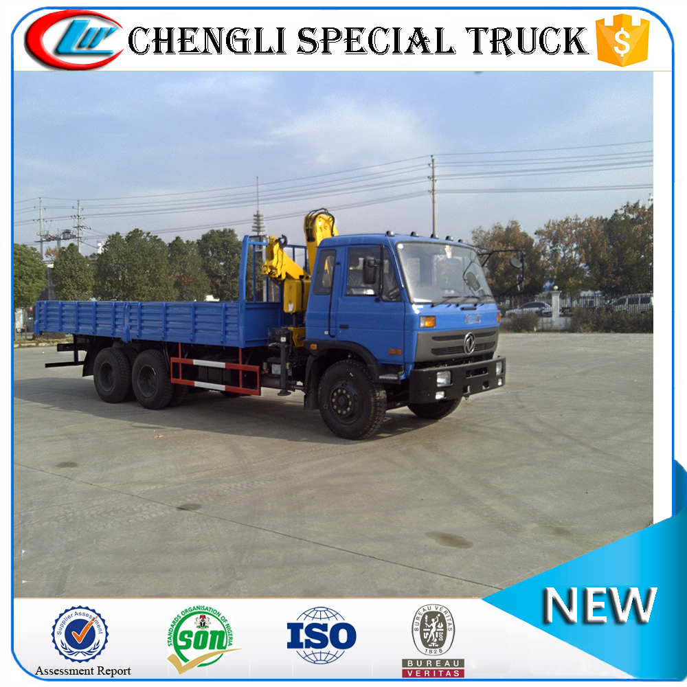 DongFeng foldable used 6x4 10 ton truck mounted crane