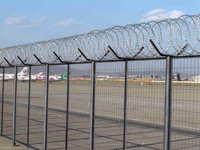 GM high security top razor wire airport fence for sale