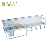 Kitchen Shelf with Hooks Kitchen accessories ALuminum Wall Mount Kitchen Shelves