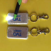 Top Quality Promotional EN13356 / EN71 reflective custom pvc led keychain
