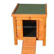 Green Asphalt Roof Small Animal Pet Hutch Wooden Rabbit Cage