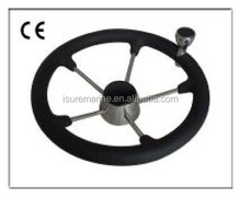 marine stainless steel Steering wheel with PU foam&knob