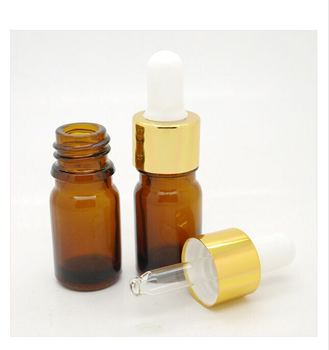 Best selling High Quality and Cheap Price 10ml Frosted amber Glass Essential Oil Bottle with Gold Screw Cap