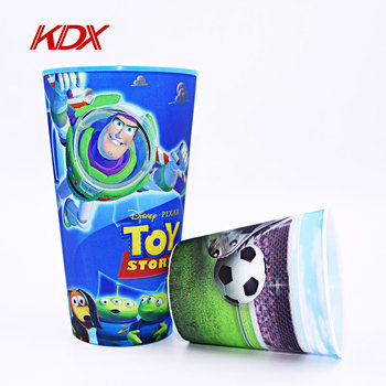 2017 New Customized Printing Mugs Plastic 3D Lenticular Hologram Water Cup