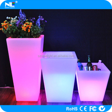LED flower pot illuminated LED vase light color changing LED plant pot