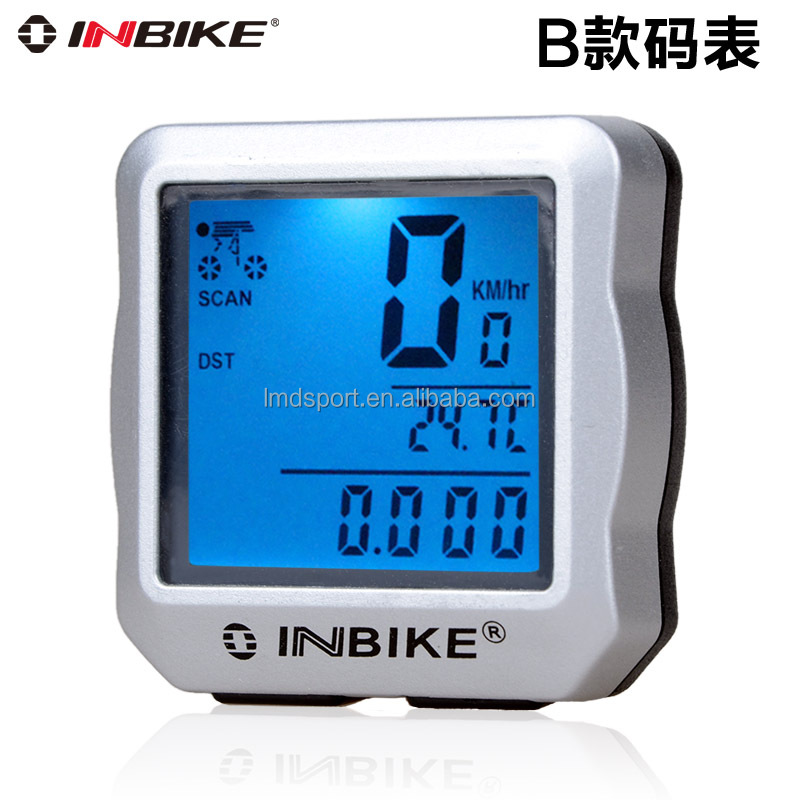 Waterproof Backlight bike computer with heart rate monitor, wireless Digital bicycle computer