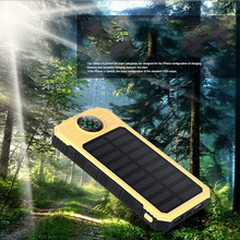 2017 New 20000mAh Solar Power Bank Large Capacity External Battery Pack