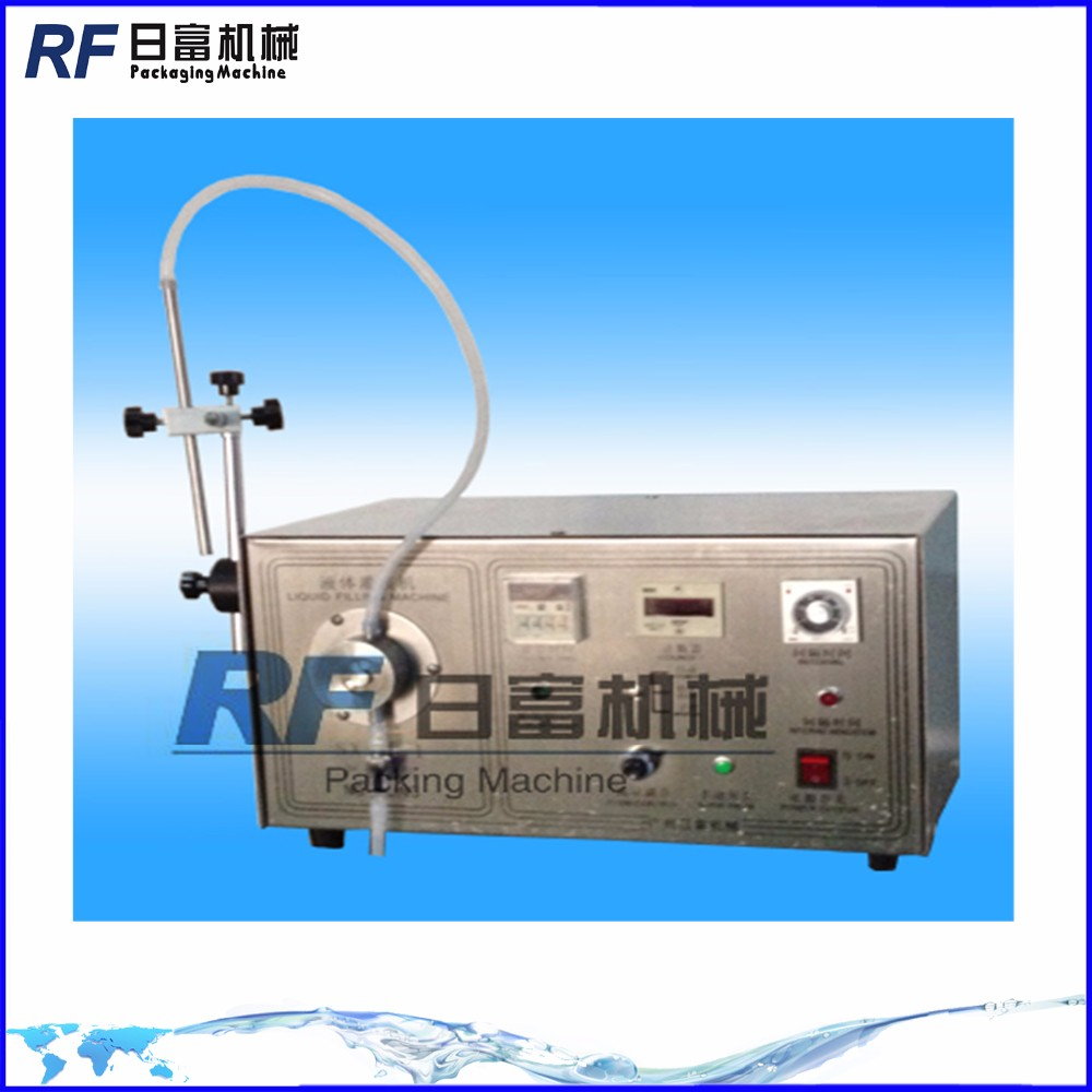 One nozzles Magnetic pump semi auto filling machine