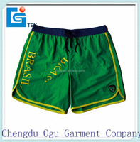 stylish quality 100% polyester bum men mini fashion swim shorts