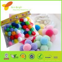 Colorful Pom poms/ 3mm Pom pom / cheerleader Crafting pompoms