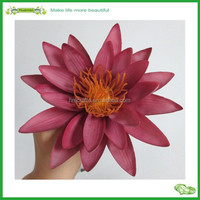 Wholesale artificial lotus flower for pool decor plastic lotus water lily