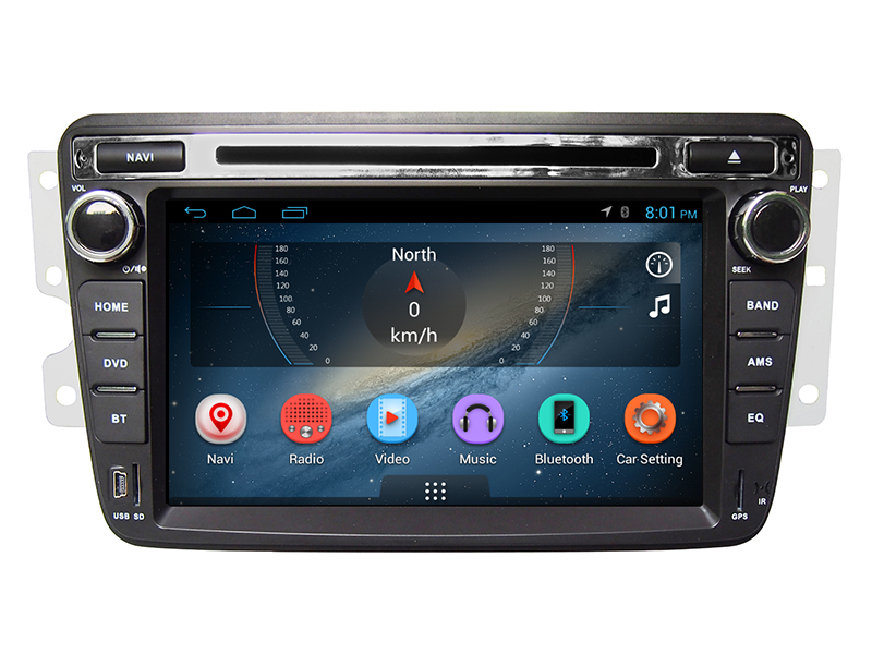 Android 2 din auto dvd car radio with navigation china automotive multimedia player for Dongfeng S30
