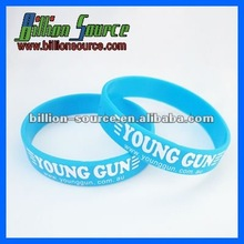 factory price !! 2014 blue 100% silicone bracelet