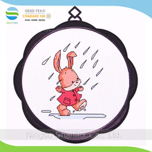 Rainy day cute bunny 17 x17 11 cm 11ct cross stitch kit hand made wall hangings with good design
