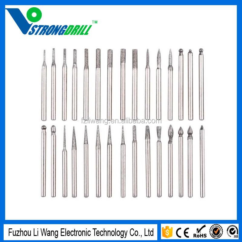 eBoot 30 Piece Diamond Burs Set Drill Bit for Rotary Tool