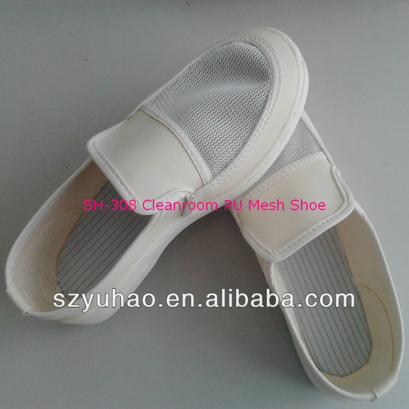 White Mesh PU Cleanroom Shoes