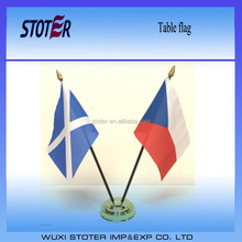 Small plastic table flags Scotland and Czech Republic table Flag