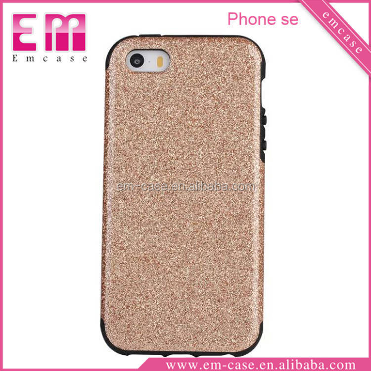 Luxury Style Soft TPU Case For iPhone 5Se/Bling Glitter Cell Phone Case For iPhone 5 SE