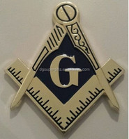 Freemason Masonic cut-out car emblem in Gold and Black tone