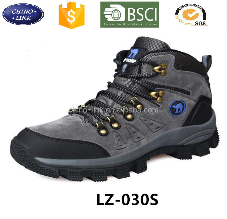 Wholesale Men hiking outdoor sneakers climbing lace-up suede boots mountain breathable trekking tourism botas sports shoe