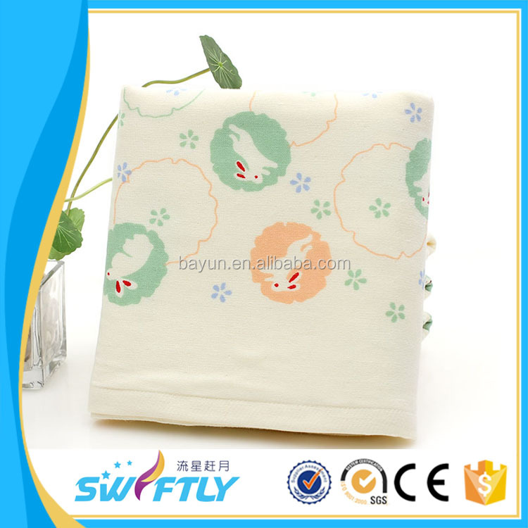 Wholesale various soft lovely high quality cartoon animal pattern 100% cotton bath baby towel