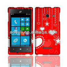for Huawei Ascend w1 mobile phone case, hot red shiny star phone case, case for Huawei Ascend w1