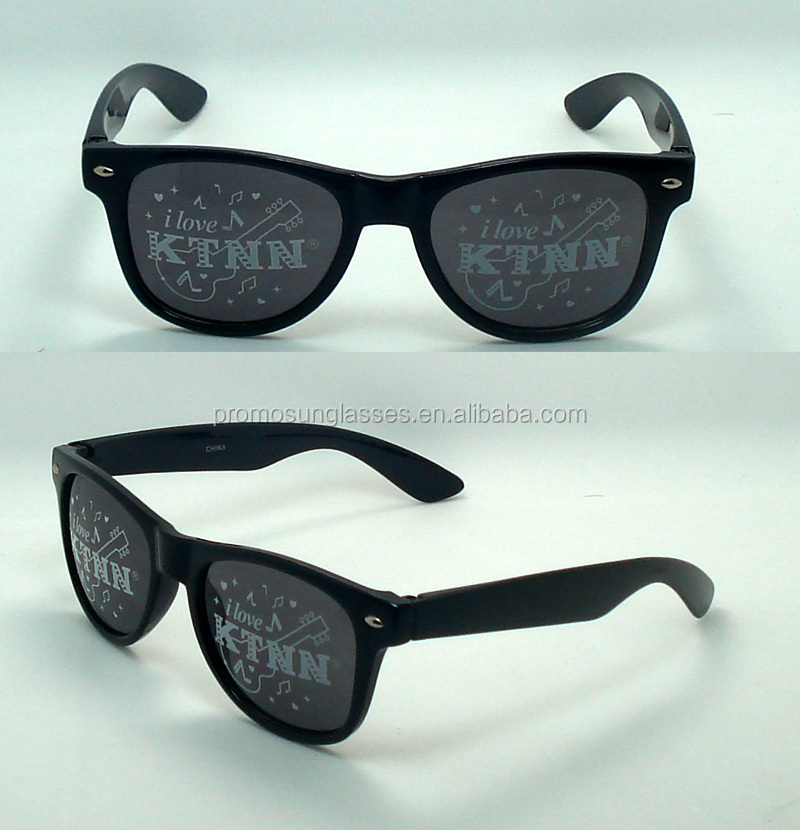 Cheapest promotional sunglasses, pattern printed on lense, special design for party UV400 lenses