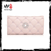 High end large capacity ladies leather wallet