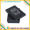 Fashion expensive men watch packaging box,black chipboard packing box for jewelry