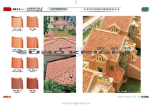 Kerala Roof tile Spanish style clay roof tile customized color roof tile professional Foshan manufacture