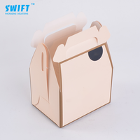 Wholesale best price custom brown cheese cake boxes handle wholesale