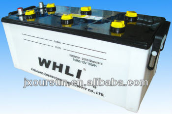 Auto spare part 12 volta Lead Acid Battery N165 12V 165AH WHLI